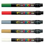 Christmas Pack of 5 Posca 1-10mm Brushes